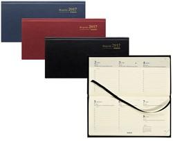 Zakagenda 2018 Brepols Breprint 7 dagen per 2 pagina's 8,1x16,9cm liggend model omslag: assorti kleuren papier: creme.