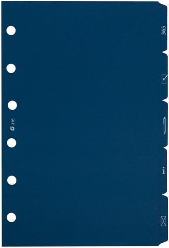 Tabkaarten Succes standard 5-delig blauw XT16.