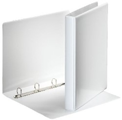 Wisselband Esselte 23-rings A4-20mm wit voorzien van 2 tassen.