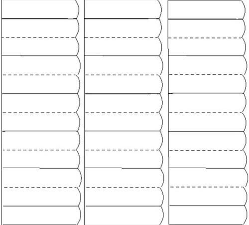 Strookjes Kangaro t.b.v. 5/10-delige venster tabbladen 1 vel A4 a 15 strookjes.