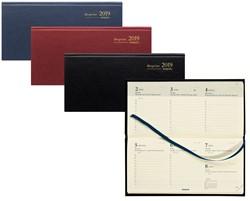 Zakagenda 2019 Brepols Breprint 7 dagen per 2 pagina's 8,1x16,9cm liggend model omslag: assorti kleuren creme papier.