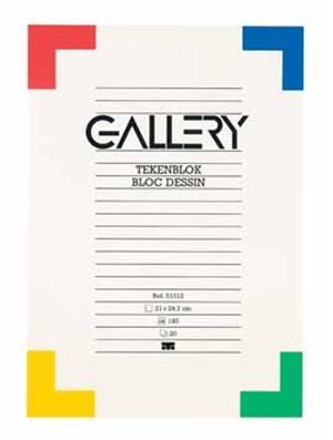 Tekenblok Gallery A4 190 grams 20 vel.
