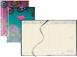 Agenda 2019 Brepols Paisley Timing 6-talig 7 dagen per 2 pagina's 17,1x22cm omslag: assorti kleuren chamois papier.
