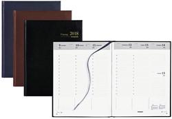 Agenda 2018 Brepols Timing 7 dagen per 2 pagina's 17,2x22cm omslag: assorti kleuren papier: wit.(900144)
