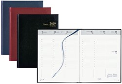 Agenda 2019 Brepols Timing 7 dagen per 2 pagina's 17,2x22cm omslag: assorti kleuren papier: wit.(900144)