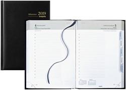 Agenda 2019 Brepols Minister 1 dag per pagina 14,8x21cm met maandtabs omslag zwart wit papier (0.218.1256.01.6.0).