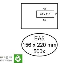 Venster envelop EA5 156x220mm 80 grams wit met venster rechts 40x110mm 500 stuks.