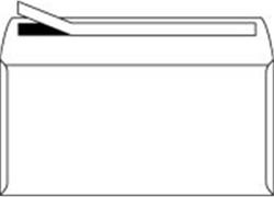 Bank envelop C5 162x229mm 80 grams wit zelfklevend 500 stuks.