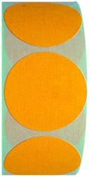 Etiket 35mm rond fluor-oranje op rol permanent 1000 stuks.