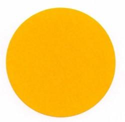 Etiket 50mm rond fluororanje permanent op rol 1000 stuks.