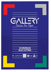 Schrijfblok Gallery A5  - 100 vel 5mm geruit papier.