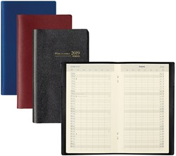 Zakagenda 2019 Brepols Plan-O-Rama 1 maand per 2 pagina's 9,2x15,8cm staand model omslag: assorti kleuren papier: creme (=900166).