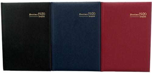 Agenda 2019/2020 Brepols Bretime 7 dagen per 2 pagina's 14,8x21cm 16 maanden vanaf augustus 2019 omslag: assorti kleuren creme papier.