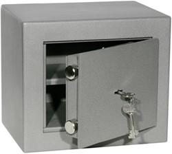 Privékluis model PT-0 afmeting buitenmaten (hxbxd) 250x290x220mm.kleur:grijs RAL7035.