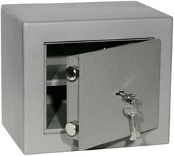 Privékluis model PT0 afmeting buitenmaten (hxbxd) 250x290x220mm.kleur:grijs RAL7035.