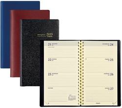 Zakagenda 2019 Brepols Interplan 7 dagen per 2 pagina's staand 9x16cm staand model met spiraal omslag assorti kleuren creme papier(900045).
