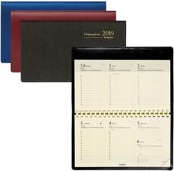 Zakagenda 2019 Brepols Omniplan 7 dagen per 2 pagina's 9x16cm liggend model met spiraal omslag assorti kleuren creme papier(900048).