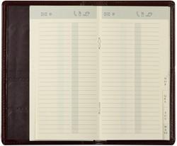 Alfabet Brepols uitgestanst 16 pagina's creme kleur voor gebruik in zakagenda.