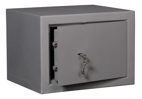 Privékluis model DRS Vector 1-K buitenmaat (hxbxd): 330x450x385mm kleur: Aluminium grijs RAL9006.