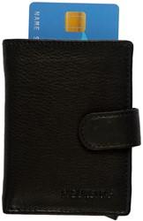 Pasjeshouder Figuretta de luxe -  lederen omslag in de kleur zwart cap. 6 kaarten.