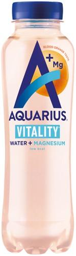 Frisdrank Aquarius hydration Bloodorange fles 0.4 liter. Afname per 12 flessen.