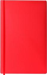 Rekbare boekenkaft Dresz XL solid colours Red.