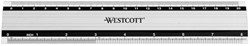 Liniaal Westcott 200mm aluminium met anti-slip.