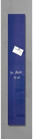 Glas-Magneetbord Sigel GL103 120x780mm violet, incl. 4 extra sterke magneten en bevestigingsmateriaal.