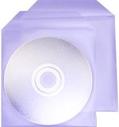 CD hoes met klep kunststof 100 stuks.