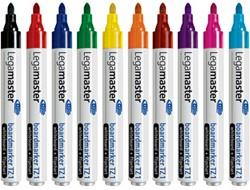 Whiteboard marker Lega TZ-1 en flipover rond assorti kleuren 1.5-3mm 10 stuks.