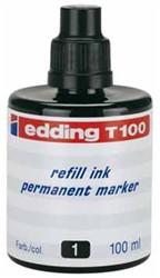 Navulinkt voor marker Edding T100 zwart 100ml.