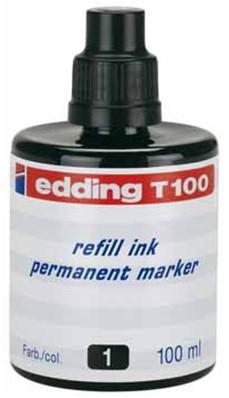 Navulinkt voor marker Edding T100/TZ-1 zwart 100ml.