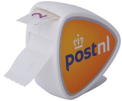 Postzegelrol dispenser.