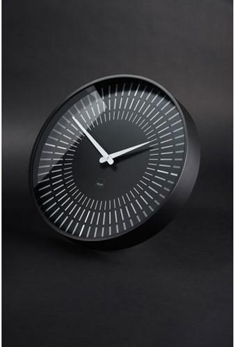 Wandklok Sigel Lox rond 36cm zwart kunststof met glas (WU-111). OP=OP
