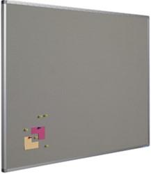 Prikbord Smit-Visual 45 x 60 cm grijs + softline profiel.