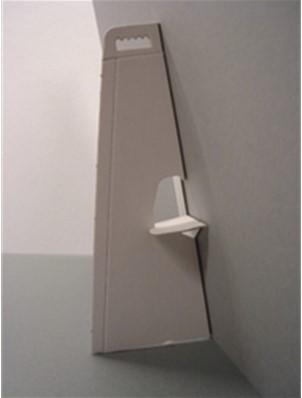 Standaard gemaakt van wit beplakt grijskarton 13cm zelfklevend.