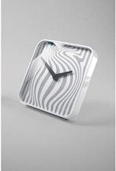 Wandklok Sigel Opta 35x35cm wit kunststof met glas. OP=OP