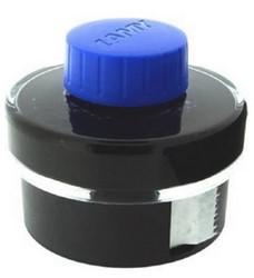 Inktpot Lamy 50ml blauw/zwart T52 met opvangbekken en vloeipapier.