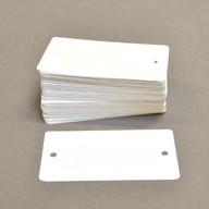 Labels plastic 65x120mm voorzien van 2 gaatjes 1000 stuks wit.
