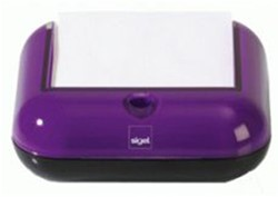 Memokubus Sigel Eye Style violet/zwart.