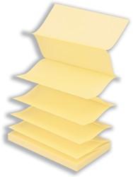 Memoblok Info-Notes Z-Note 75x75mm zelfklevend geel 12 stuks.