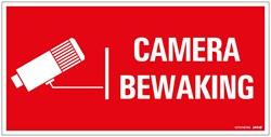 Bordje / pictogram Pickup 15x30cm hard kunststof 'Camerabewaking'.