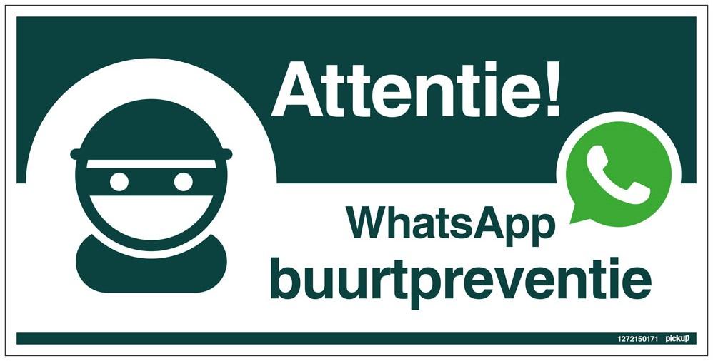 Afbeeldingsresultaat voor whatsapp buurtpreventie