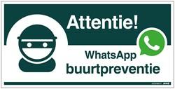 WhatsApp Buurtpreventie bord 15x30cm hard kunststof.