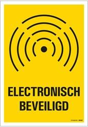 Bordje / pictogram Pickup 23x33cm hard kunststof 'Electronisch beveiligd'.