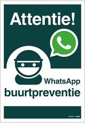 WhatsApp Buurtpreventie bord 23x33cm hard kunststof.