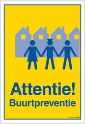 Bordje / pictogram Pickup 23x33cm hard kunststof 'Attentie Buurtpreventie'.