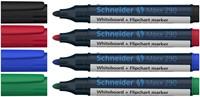 Whiteboard / flipover marker Schneider 290 rond assorti kleuren 1-3mm 4 stuks.-2