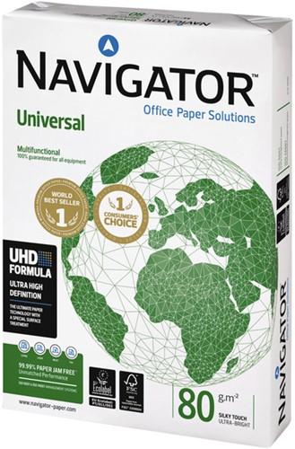 Printpapier Navigator Universel A4 80 grams wit 500 vel. Afname per 5 pak.