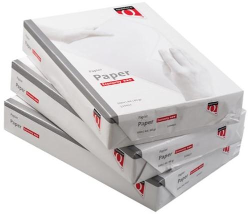 Papier Quantore Economy A4 80 grams wit voor universeel gebruik 500 vel.